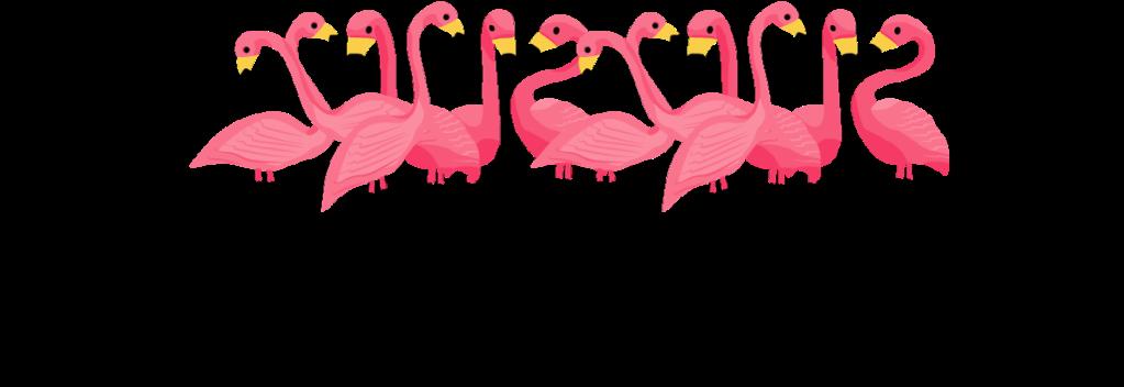 classy yard pink flamingos