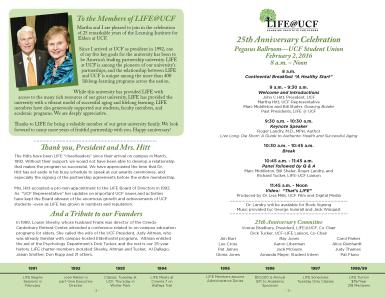 life 25 program page 2-3