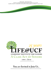 life@ucf 25 anniversary invitation cover