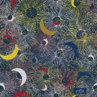 sunbeams in starry night